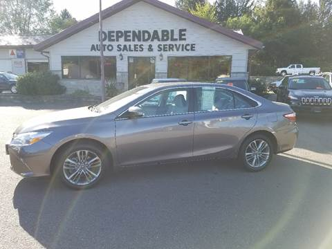 2016 Toyota Camry for sale at Dependable Auto Sales and Service in Binghamton NY