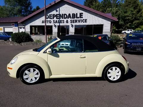 2006 Volkswagen New Beetle for sale at Dependable Auto Sales and Service in Binghamton NY