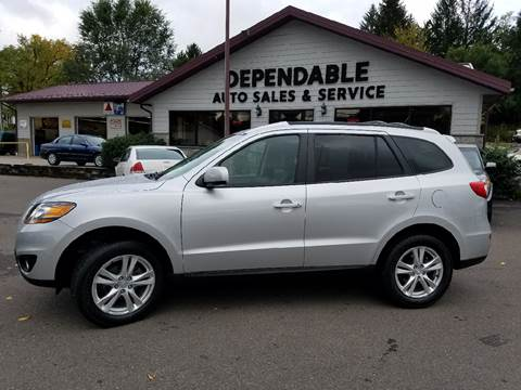 2011 Hyundai Santa Fe for sale at Dependable Auto Sales and Service in Binghamton NY