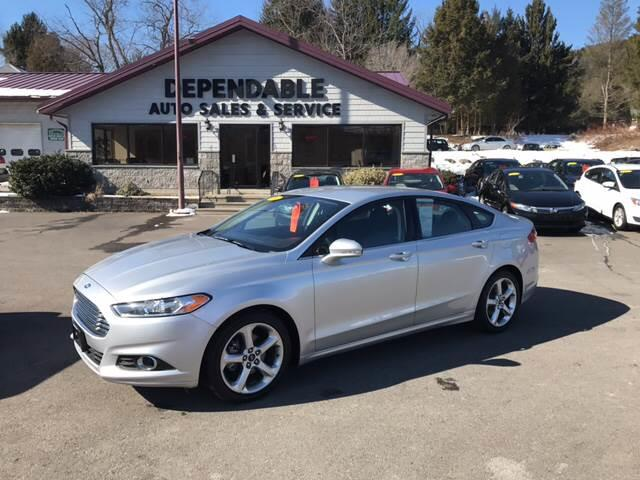 2016 Ford Fusion for sale at Dependable Auto Sales and Service in Binghamton NY