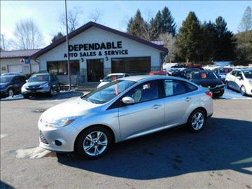 2014 Ford Focus for sale at Dependable Auto Sales and Service in Binghamton NY