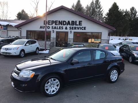 2011 Dodge Avenger for sale at Dependable Auto Sales and Service in Binghamton NY