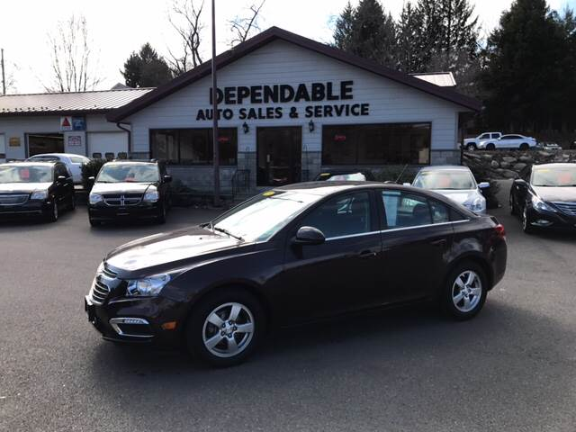 2015 Chevrolet Cruze for sale at Dependable Auto Sales and Service in Binghamton NY