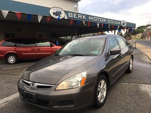 2007 Honda Accord for sale at Berk Motor Co in Whitehall PA