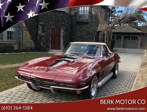 1967 Chevrolet Corvette for sale at Berk Motor Co in Whitehall PA