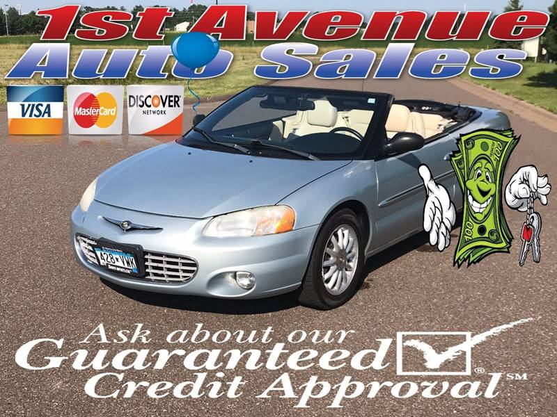 2002 Chrysler Sebring for sale at 1st Avenue Auto Sales in Cambridge MN