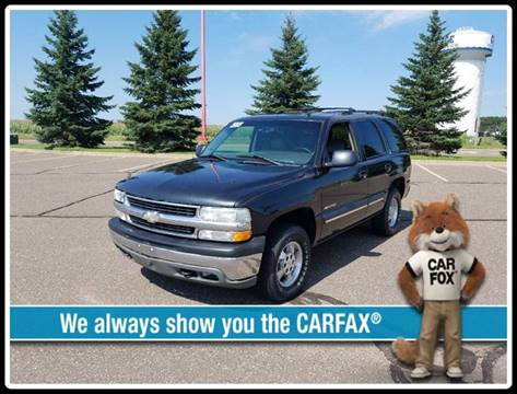 2003 Chevrolet Tahoe for sale at 1st Avenue Auto Sales in Cambridge MN