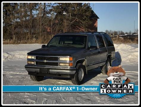 1999 Chevrolet Tahoe for sale at 1st Avenue Auto Sales in Cambridge MN