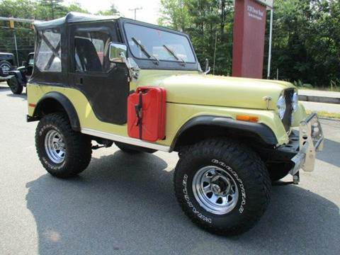 1977 Jeep CJ-5 for sale at Route 4 Motors INC in Epsom NH