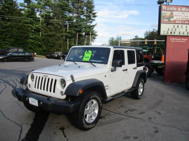 Route 4 Jeep >> 2016 Jeep Wrangler Unlimited 4x4 Sport S 4dr Suv In Epsom Nh Route