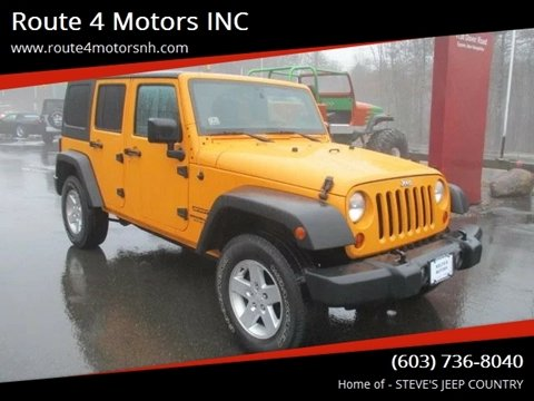 2012 Jeep Wrangler Unlimited for sale in Epsom, NH