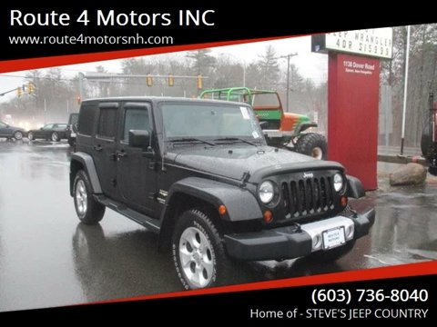 2013 Jeep Wrangler Unlimited for sale in Epsom, NH