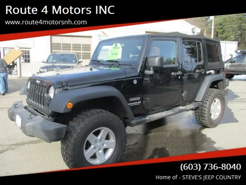 2015 Jeep Wrangler Unlimited for sale in Epsom, NH