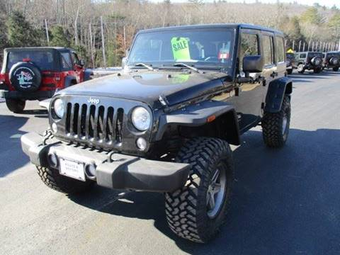 2014 Jeep Wrangler Unlimited for sale at Route 4 Motors INC in Epsom NH