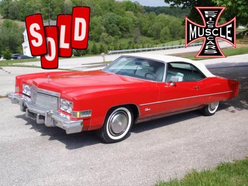 1974 Cadillac Eldorado Convertible SOLD SOLD SOLD
