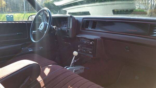 1987 Chevrolet Monte Carlo for sale at The Best Muscle Cars in Clarksburg MD