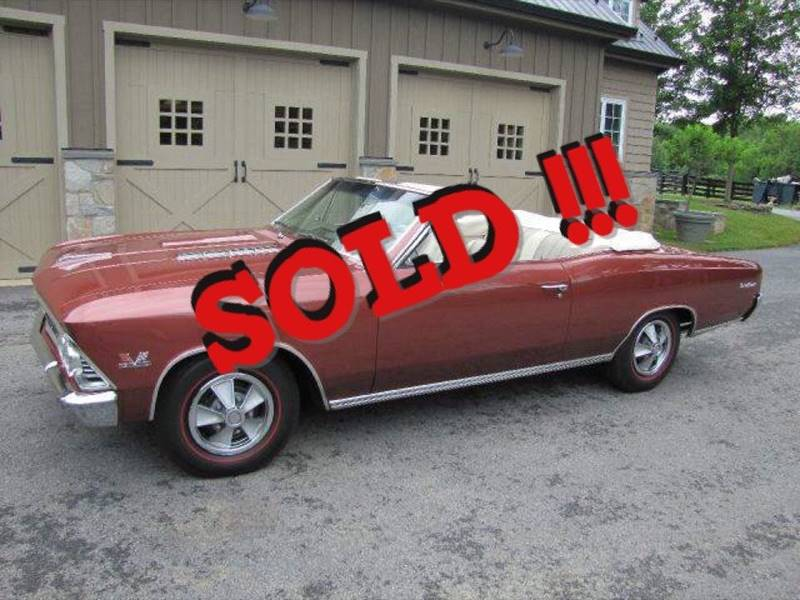 1966 Chevrolet Chevelle SOLD SOLD SOLD
