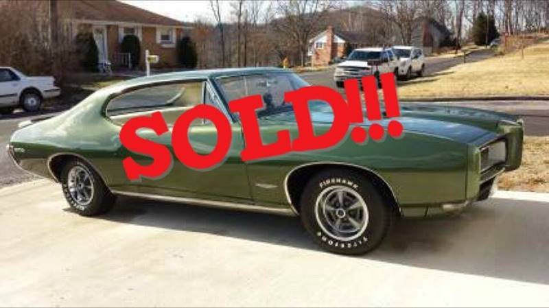 1968 Pontiac GTO SOLD SOLD SOLD