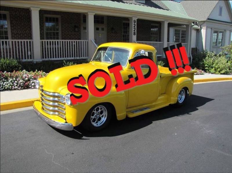 1951 Chevrolet Custom Pickup SOLD SOLD SOLD