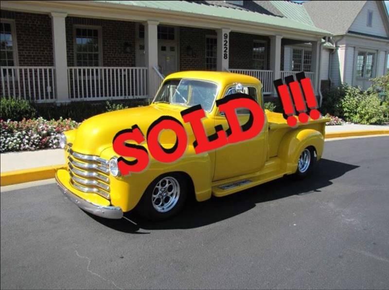 1951 Chevrolet Custom Pickup SOLD SOLD SOLD