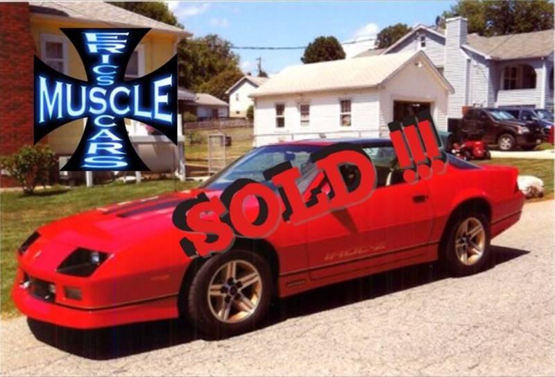 1986 Chevrolet Camaro Iroc Z SOLD SOLD SOLD