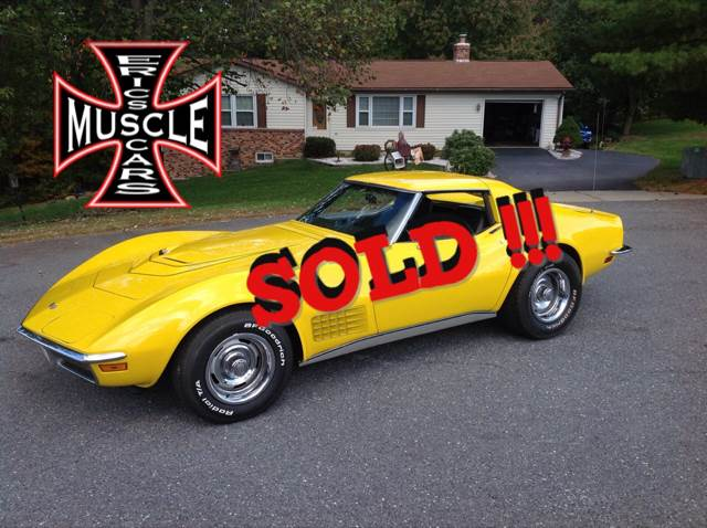 1972 Chevrolet Corvette SOLD SOLD SOLD