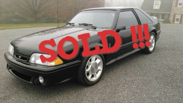 1993 Ford Mustang SVT Cobra SOLD SOLD SOLD