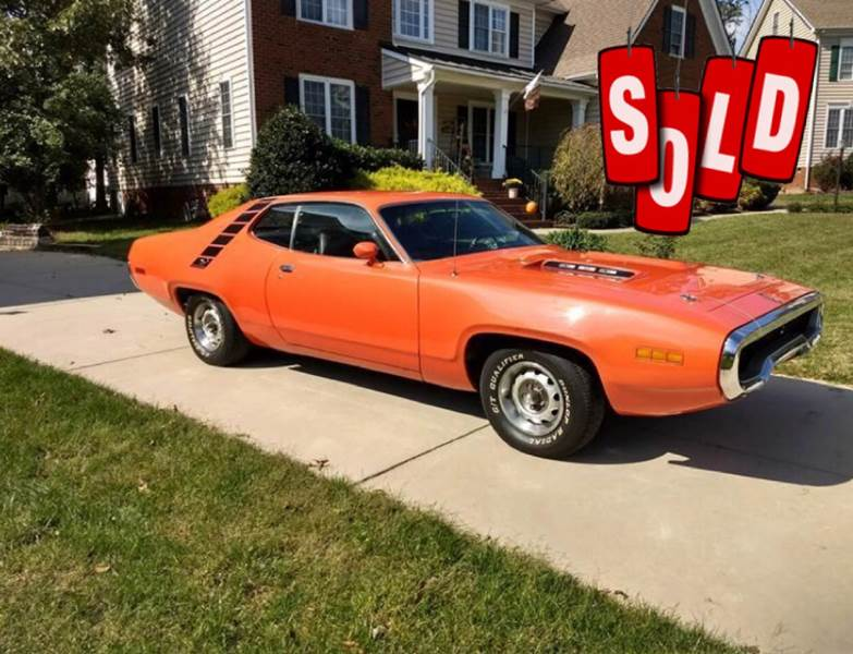 1971 Plymouth Roadrunner SOLD SOLD SOLD