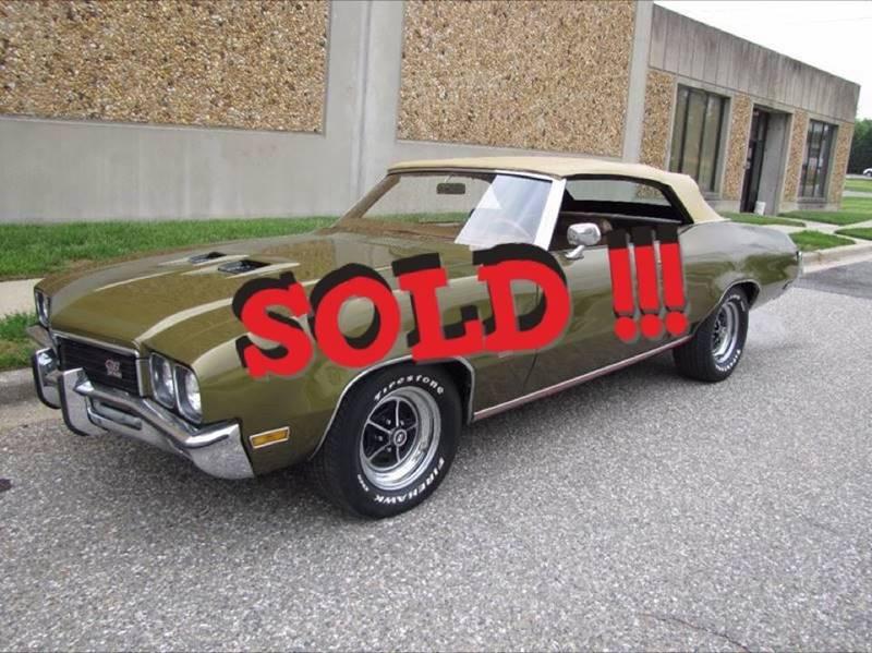 1972 Buick Skylark SOLD SOLD SOLD