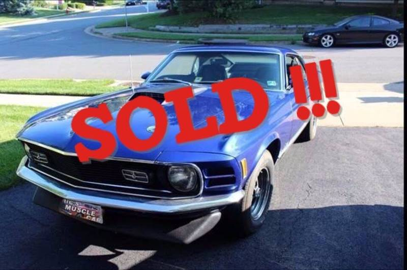 1970 Ford Mustang SOLD SOLD SOLD