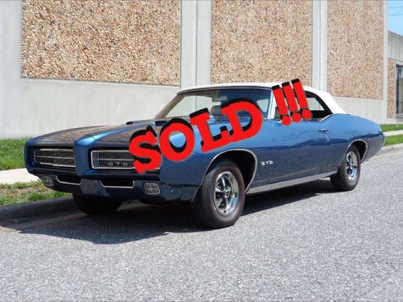 1969 Pontiac GTO SOLD SOLD SOLD