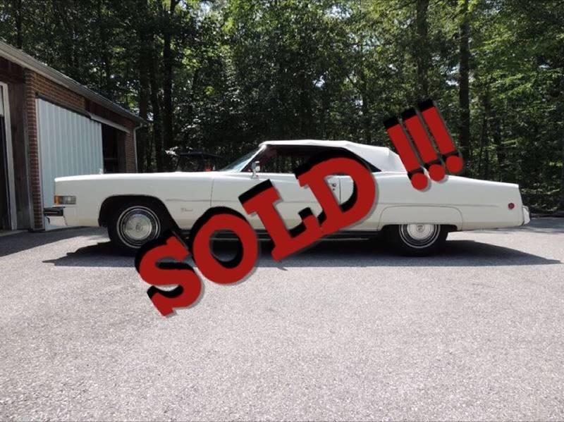 1973 Cadillac Eldorado SOLD SOLD SOLD