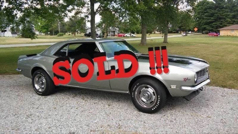 1968 Chevrolet Camaro SOLD SOLD SOLD