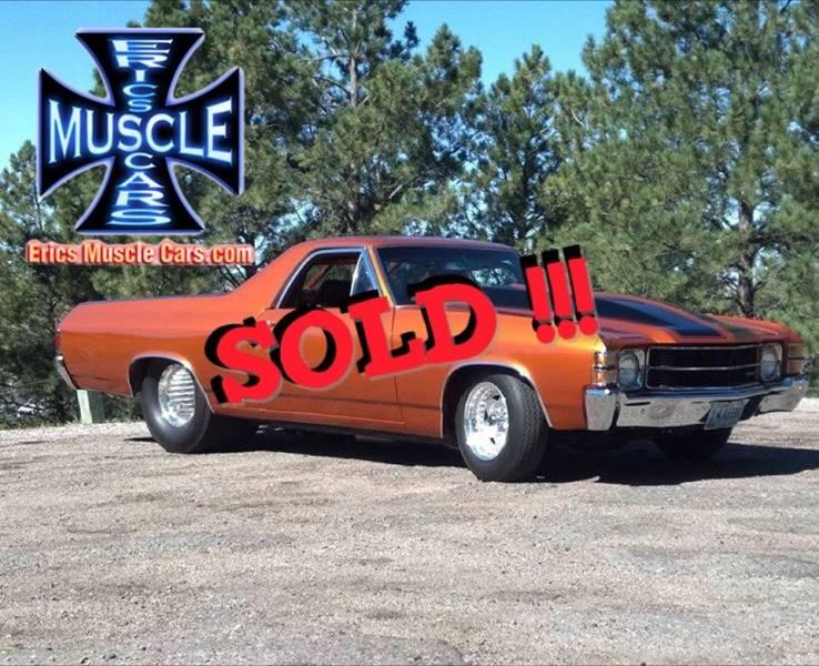 1971 Chevrolet El Camino SOLD SOLD SOLD