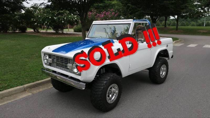 1969 Ford Bronco SOLD SOLD SOLD