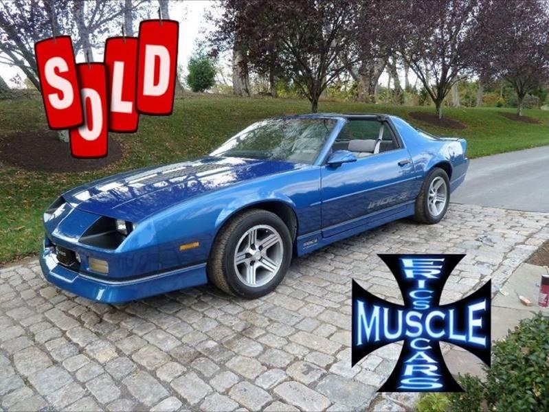 1989 Chevrolet Camaro SOLD SOLD SOLD