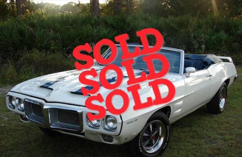 1969 Pontiac Firebird Trans Am SOLD SOLD SOLD