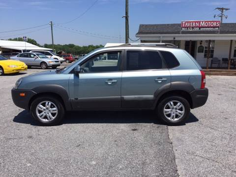 2007 Hyundai Tucson for sale at TAVERN MOTORS in Laurens SC