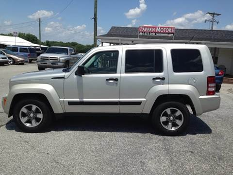 2008 Jeep Liberty for sale at TAVERN MOTORS in Laurens SC