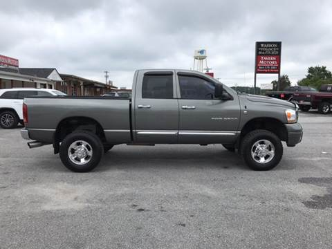 2006 Dodge Ram Pickup 3500 for sale at TAVERN MOTORS in Laurens SC