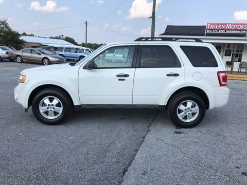2010 Ford Escape for sale at TAVERN MOTORS in Laurens SC