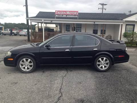 2003 Nissan Maxima for sale at TAVERN MOTORS in Laurens SC