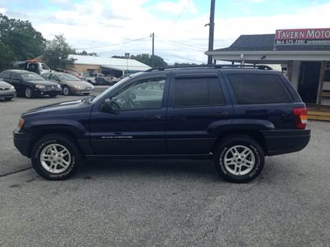 2004 Jeep Grand Cherokee for sale at TAVERN MOTORS in Laurens SC
