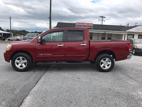 2005 Nissan Titan for sale at TAVERN MOTORS in Laurens SC
