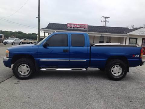 2004 GMC Sierra 1500 for sale at TAVERN MOTORS in Laurens SC