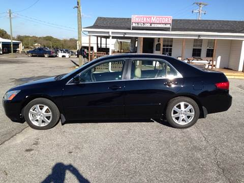 2005 Honda Accord for sale at TAVERN MOTORS in Laurens SC