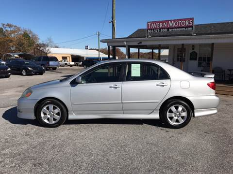 2005 Toyota Corolla for sale at TAVERN MOTORS in Laurens SC