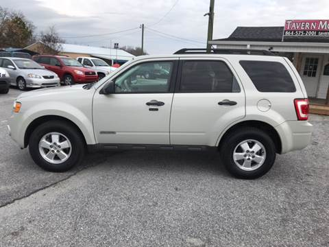 2008 Ford Escape for sale at TAVERN MOTORS in Laurens SC