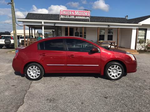 2012 Nissan Sentra for sale at TAVERN MOTORS in Laurens SC