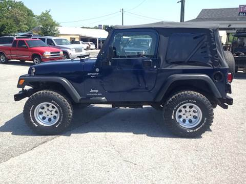 2004 Jeep Wrangler for sale at TAVERN MOTORS in Laurens SC